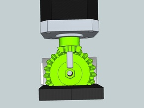 Bevel gear 1:3 for Extruder