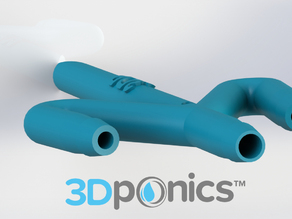 Conduit with Hole - 3Dponics Drip Hydroponics