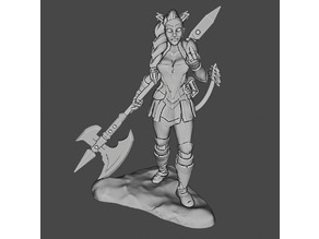 Female tiefling fighter table top games (28 mm)