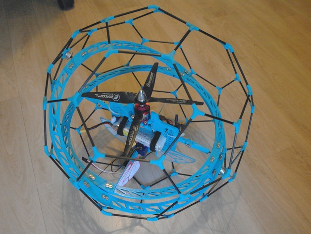 Spherical Drone By Kert Thingiverse