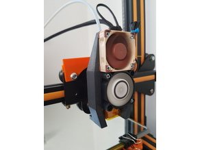 Creality CR-10 easy-print hotend fan housing /fangs for axial fans (40mm, 50mm)