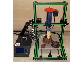 Chocolate 3D printer Chocolate Extruder by MarVtec