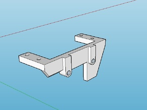 My custom made RC HG crawler steering servo mount