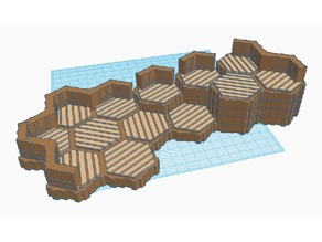 Locking Hex Terrain Wood Floor