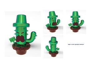 Angry cactus grandpa miniature
