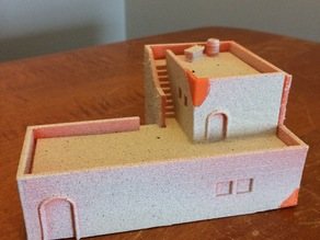 15mm scale Large Desert House