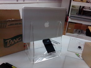 Vertical Laptop Stand and Cellphone Charging Platform