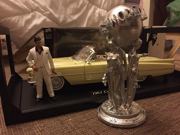 Scarface The World Is Yours Statue Rivisited By Davidesher