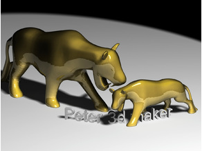 Gold Panther decoration