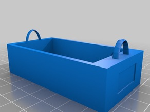Organizer bin for peg board hook