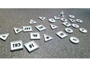 Rithmomachia (Rithmomachy) game pieces