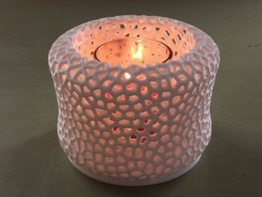 Voronoi LED tealight shade