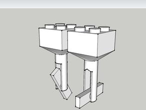 Lego Block Cufflinks