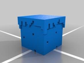 Untextured Minecraft Grass Block
