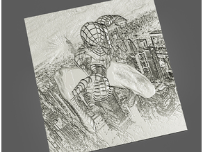 Spiderman Lithophane