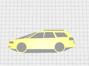 Subaru legacy 1998 outline keychain