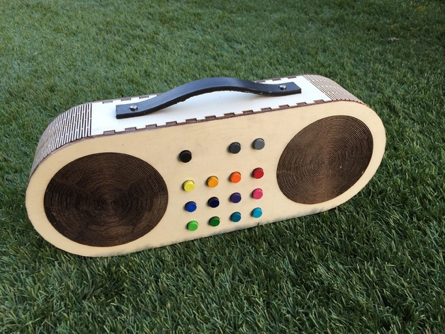 wooden radio mp3 player for children by msiegenthaler thingiverse. Black Bedroom Furniture Sets. Home Design Ideas