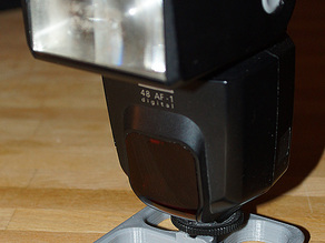 Flash stand for old Sony type hotshoe