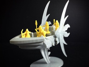Elvish Aether Ship (18mm scale)