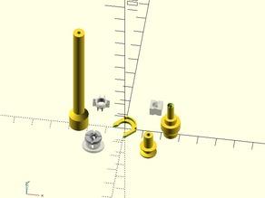 Ultimaker 1.75 filament Feeder Adapter Parts
