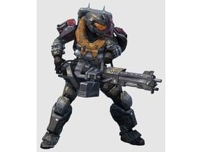 Halo Reach - Noble 5 - Jorge-052 - Mark 5 armor set including Helmet and M247 Large Machine Gun