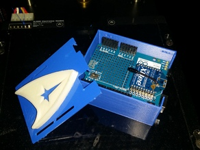 Arduino uno case with WIRELESS PROTO SHIELD    (l u l)