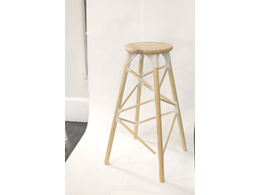 ENZO Dowel Counter Stool