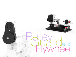 Pulley Guard and Flywheel for mini Lathe