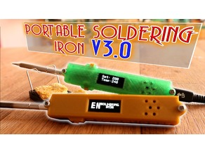 Portable soldering iron case