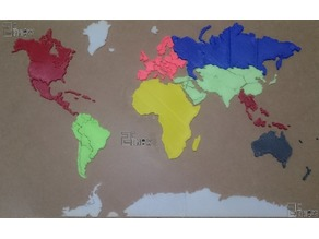 Printable World Map Puzzle
