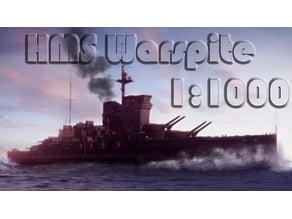 HMS Warspite Battleship [1:1000]