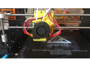 Anet A8 X carriage for Chimera (Adjustable Nozzle)