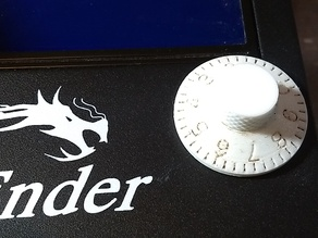 Combination lock style panel control knob