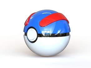 Great Ball - Fully Functional Pokeball with Button and Hinge