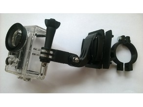 Handlebar clip-in camera mount support