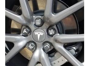 Tesla lug nut cap for aero wheels