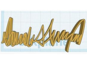 Signature of 45th US President