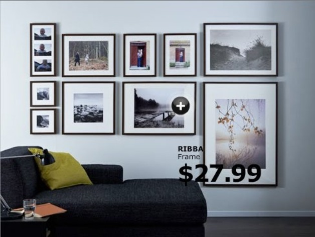 Ikea Ribba Picture Frame Wall Mount By T0ffluss Thingiverse