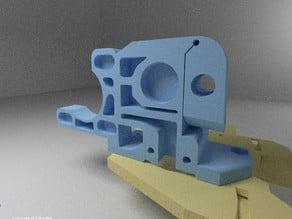 prusa i2 / mendal extruder base on dremel tool :)