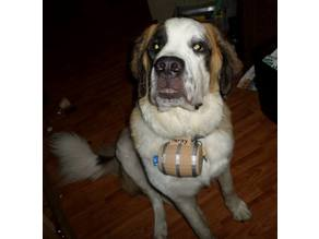 Saint Bernard Rescue Barrel