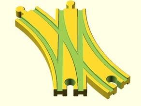 Toy Wood Train Track / Spielzeug Holzeisenbahn Schienen / Weiche Dopelt 2 / BRIO Thomas IKEA eBay kompatibel