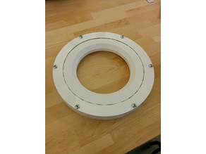 Fully 3-D Printable Slew Bearing 248 mm outer shell