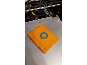 "Folding wallet cassette with ""Aperture laboratories"" logo from Portal"