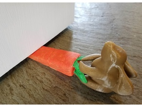 Bunny Rabbit Pulling Carrot Doorstop