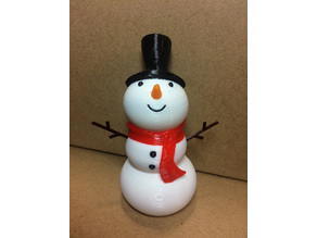 Snowman Ornament (Multi-Extruder Remix)