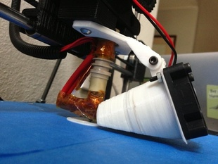 Adjustable Blower-Fan Mount for Prusa i3 Greg's Wade Extruder