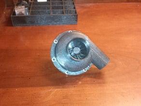 Turbine Blower, housing, and motor electric motor mount.