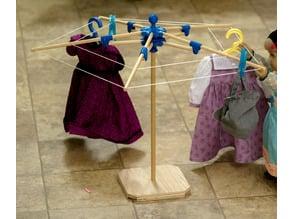"""Folding Clothesline for 18"""" Dolls"""
