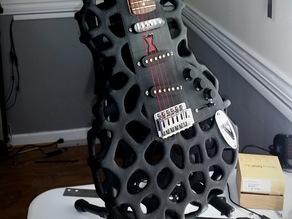 The Black Widow 3D Printed Guitar