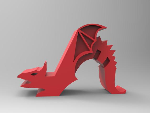 Dragon Phone Holder By T1000777 Thingiverse